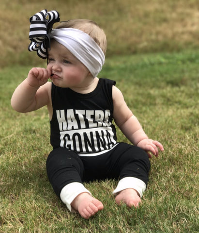 """Haters Gonna Hate"" Sleeveless Jumpsuit"
