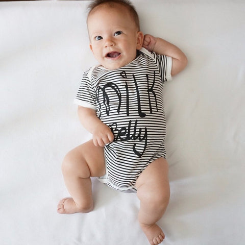 """Milk Belly"" Stripes Onesie"