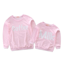 """Coffee/Milk"" Mom and Kids Matching Long Sleeve Sweatshirt Pullover (1pc) -  Family Sets - The Tot Drawer"