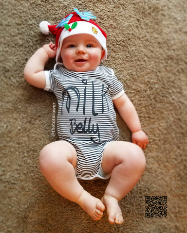 """Milk Belly"" Stripes Bodysuit -  Onesies - The Tot Drawer"