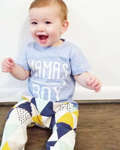 """Mama's Boy"" T-Shirt and Pants Set -  Sets - The Tot Drawer"