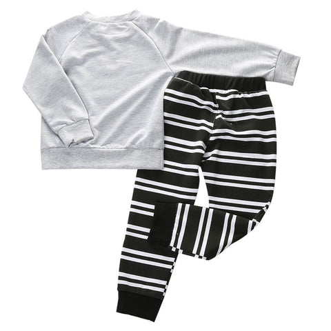 JESSE Umbrella Long Sleeves T-Shirt and Stripes Long Pants Set -  Sets - The Tot Drawer
