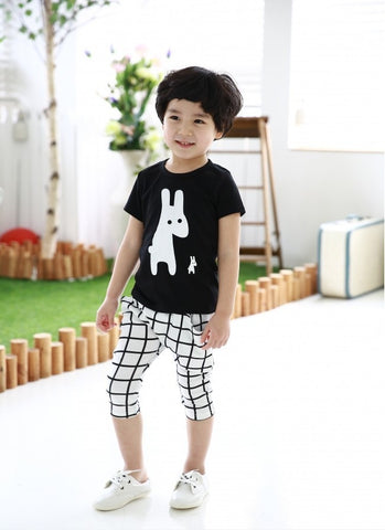 DAMIEN Rabbits T-shirt and Pants Set White