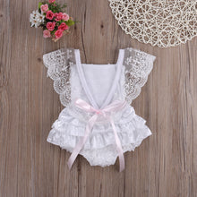HEATHER Lace Ruffles Romper -  Romper - The Tot Drawer