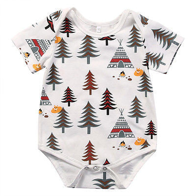 FOREST Tree and Teepee Onesie