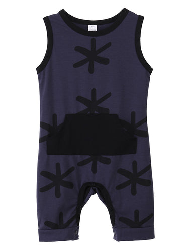 MASON Snowflake Romper with Kangaroo Pocket -  Onesies - The Tot Drawer