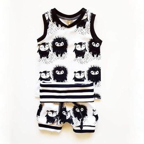 JAMIE Porcupine Sleeveless T-Shirt and Shorts Set -  Sets - The Tot Drawer