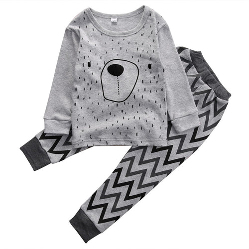 JULIAN Grey Bear and Long Pants Set -  Sets - The Tot Drawer