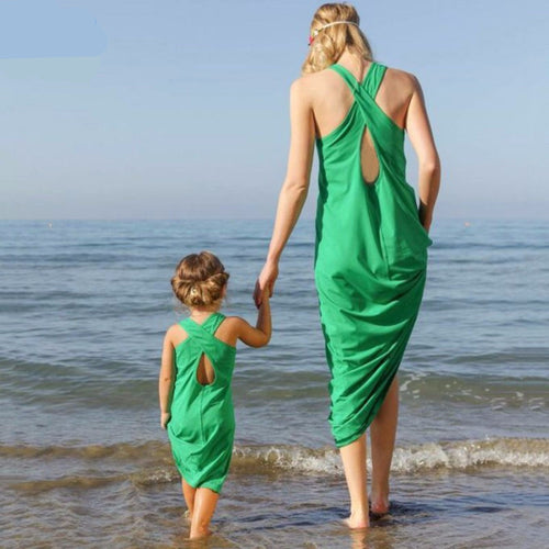 Mother Daughter Sleeveless Beach Dress Matching Sets -  Family Sets - The Tot Drawer