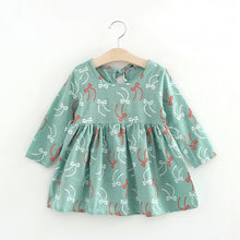 BROOKLYN Linen-like Floral Print Sundress - Green Bows -  Dress - The Tot Drawer