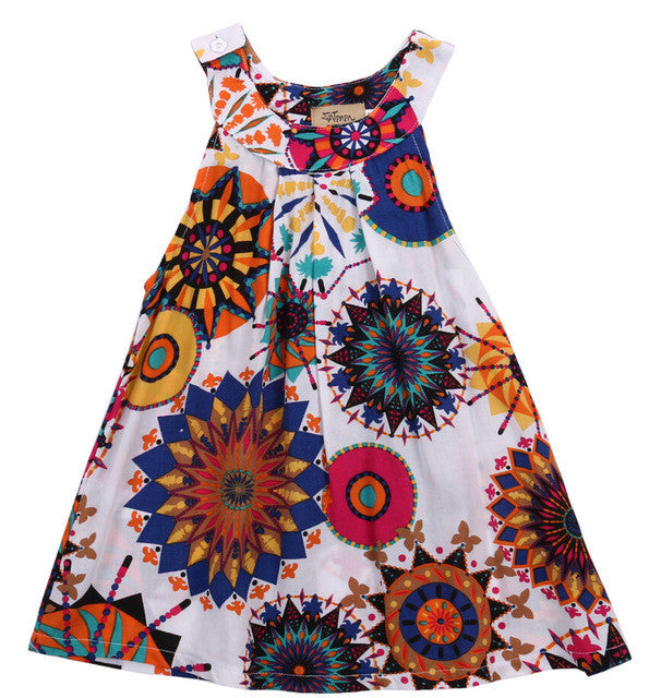 MIA Bohemian Print Tent Dress White -  Dress - The Tot Drawer