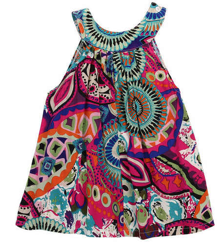 MIA Bohemian Print Tent Dress Green -  Dress - The Tot Drawer
