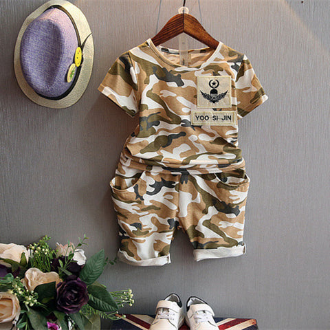 BAILEY Camouflage Sporty Top and Pants Set Army Green -  Sets - The Tot Drawer
