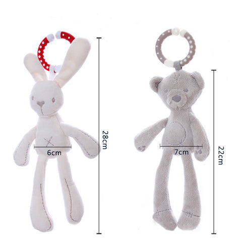 Cute Bunny and Bear Soft Plush Toy -  Accessories - The Tot Drawer
