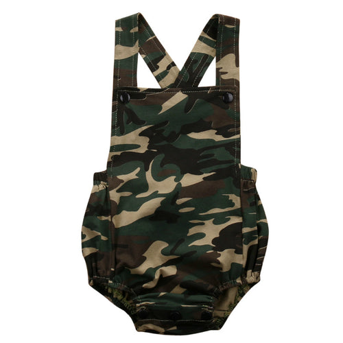KENNEDY Camouflage Cross-Back Romper -  Romper - The Tot Drawer