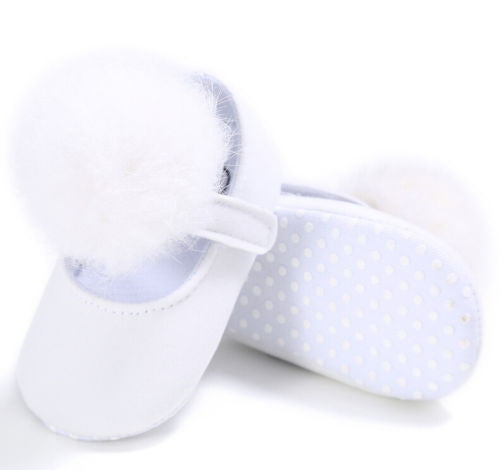PAIGE Pompom Crib Shoes White -  Shoes - The Tot Drawer
