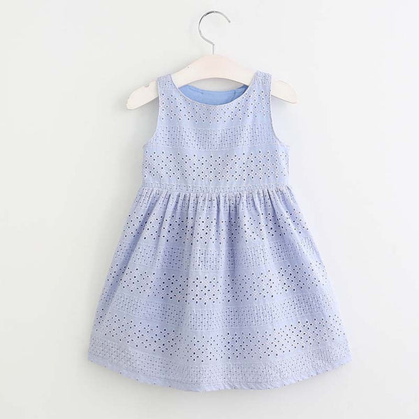 VIOLET Embroidery Lace Cut-out Dress -  Dress - The Tot Drawer