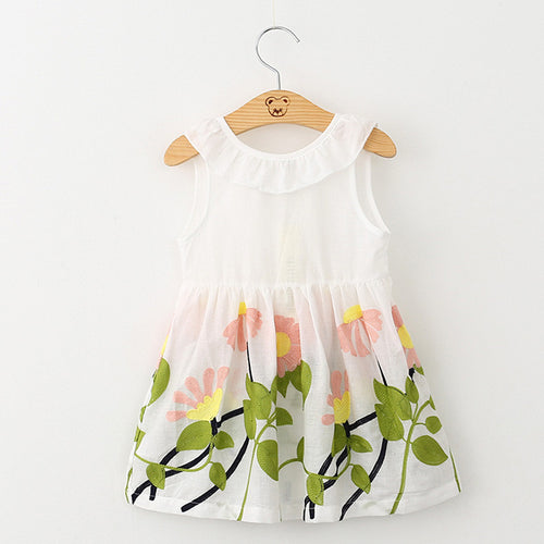 TRISTEN Embroidered Ruffles BowKnot Dress