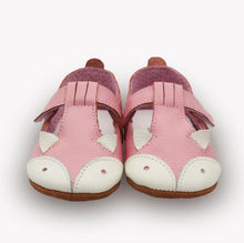 LEO Genuine Leather Fox Moccasins Shoes Pink