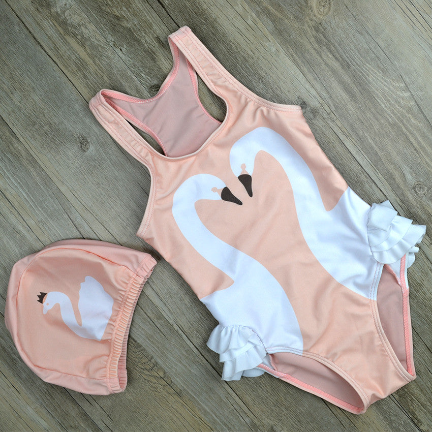 BIRDIE Swimwear White Swan -  Swimwear - The Tot Drawer