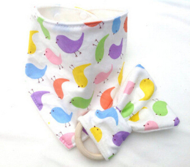 CAREY Bib and Teething Ring Set Multicolor Chicks -  Accessories - The Tot Drawer