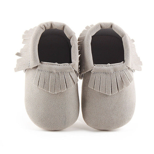 ELLIS Suede Moccasins Shoes Grey -  Shoes - The Tot Drawer