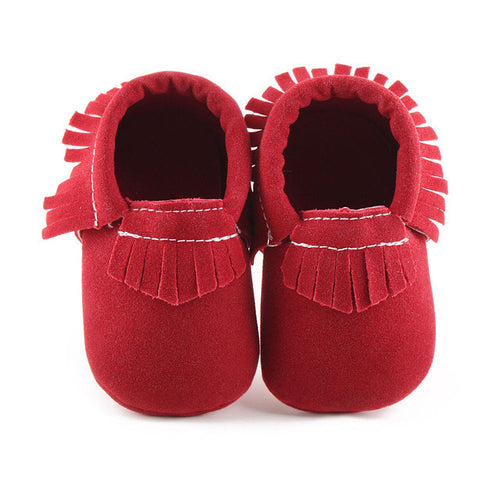 ELLIS Suede Moccasins Shoes Red -  Shoes - The Tot Drawer