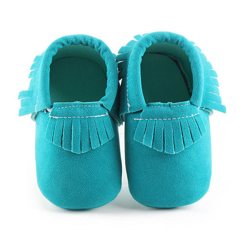 ELLIS Suede Moccasins Shoes Turquoise -  Shoes - The Tot Drawer