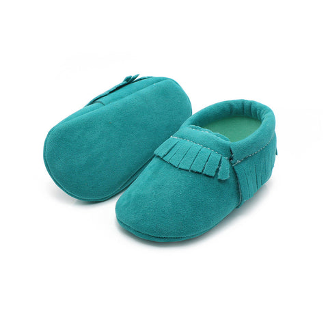 ELLIS Suede Moccasins Shoes Brown -  Shoes - The Tot Drawer