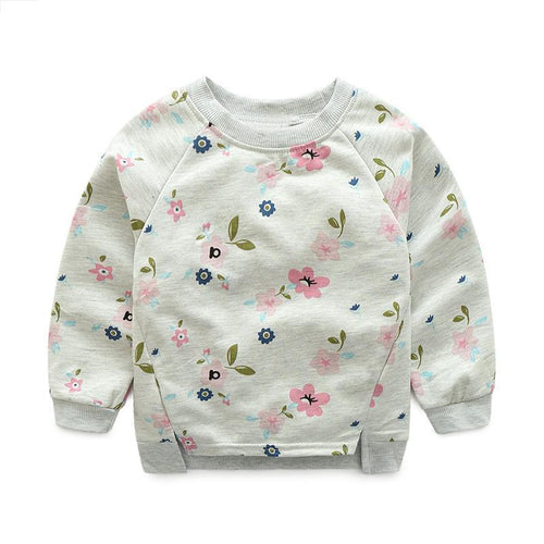 JANICE Long Sleeve Flowers Sweatshirt (2-7T) -  Outerwear - The Tot Drawer