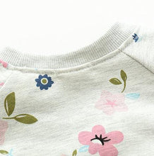 JANICE Long Sleeve Flowers Sweatshirt (2-7T)