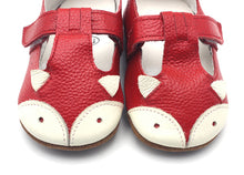 LEO Genuine Leather Fox Moccasins Shoes Red