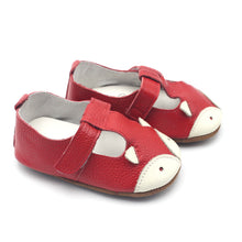 LEO Genuine Leather Fox Moccasins Shoes Red -  Shoes - The Tot Drawer