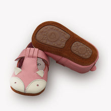 LEO Genuine Leather Fox Moccasins Shoes Pink -  Shoes - The Tot Drawer