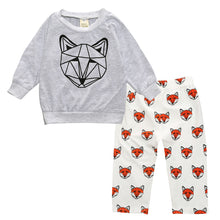 RILEY Fox Print Pullover and Long Pants Set
