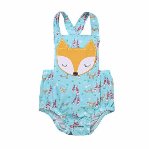 HARLEY Floral Foxy Romper Light Blue