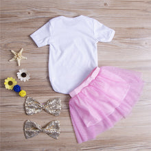 """It's My 1st Birthday"" Bodysuit, Tutu Skirt and 2x Bows 4PCS Set(0-24M) -  Sets - The Tot Drawer"