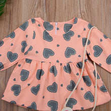 WINNIE Long Sleeve Heart Dress Peach (0-3T)