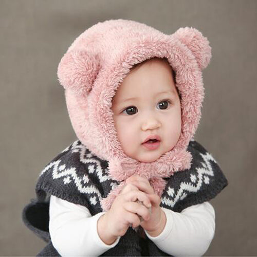 IRA Plush Beanie Hat Pink -  Accessories - The Tot Drawer