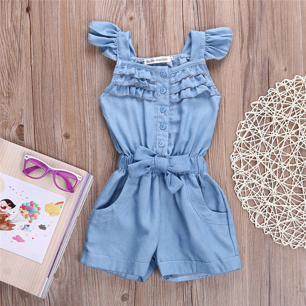 JOCELYN Ruffles Denim Jumpsuit