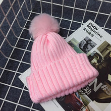 PRESLEY Pompom Knitted Beanie Pink -  Accessories - The Tot Drawer