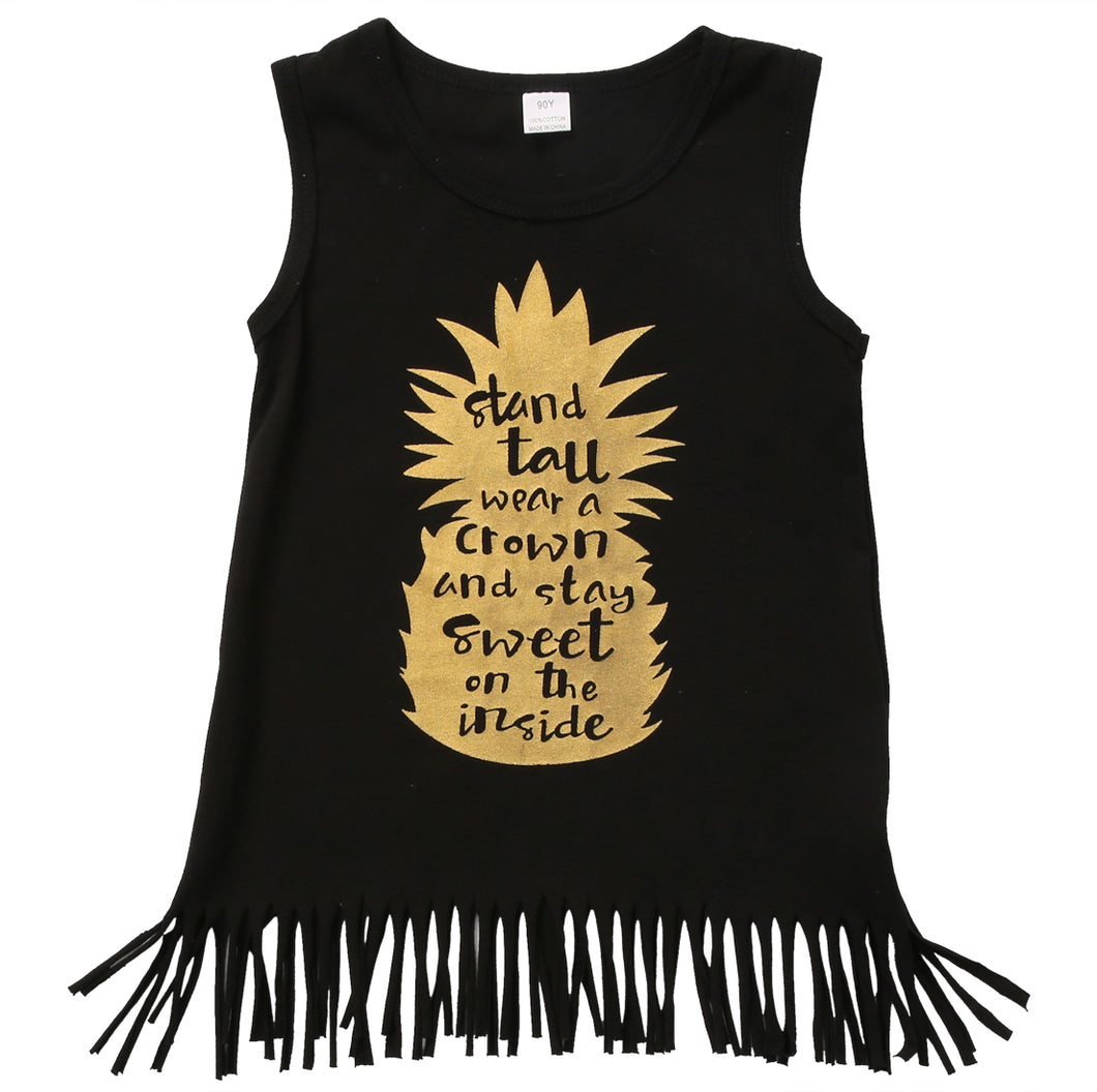 PEGGY Pineapple Fringe Tunic -  Dress - The Tot Drawer