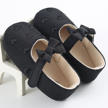 VICKY Heart Bowknot Soft Sole Shoes Black (0-18M) -  Shoes - The Tot Drawer