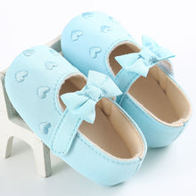 VICKY Heart Bowknot Soft Sole Shoes Blue (0-18M) -  Shoes - The Tot Drawer