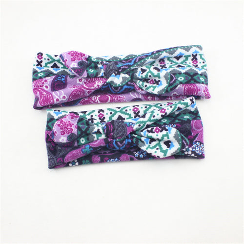 PRECIOUS Mother Daughter Matching Bowknot Headband Purple (2 pcs) -  Accessories - The Tot Drawer