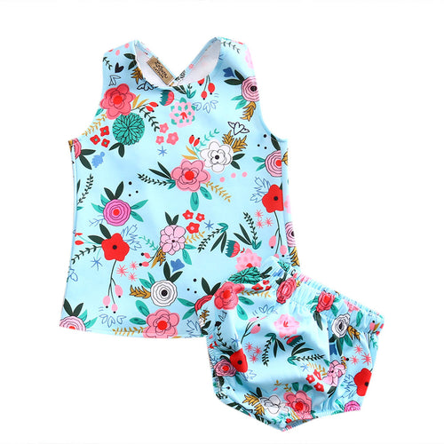 FANCIE Floral Vest Dress and Bloomers 2PCS Set -  Sets - The Tot Drawer
