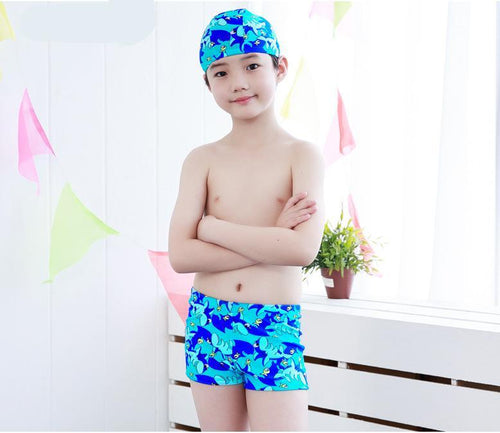 JOSEPH Swim Trunks and Cap Set (2-7T) -  Swimwear - The Tot Drawer