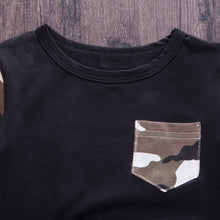 HARRY Camo Long Sleeve T-Shirt and Long Pants with Kangaroo Pocket Set -  Sets - The Tot Drawer