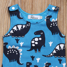 BECKHAM Dinosaurs Sleeveless Jumpsuit Romper Blue (0-24M) -  Romper - The Tot Drawer