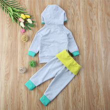 """Duh"" Bear Hoodie and Tracksuits Pants Set Blue Ashes (0-24M) -  Sets - The Tot Drawer"